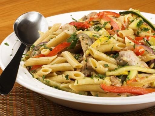 Faible en gras crevettes recette salade de ptes