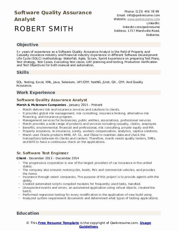 20 Software Testing Resume 5 Years Experience In 2020 Teacher