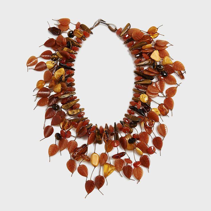 Amber, Carnelian & Quartz Fringe Necklace by Simon Alcantara | DARA Artisans