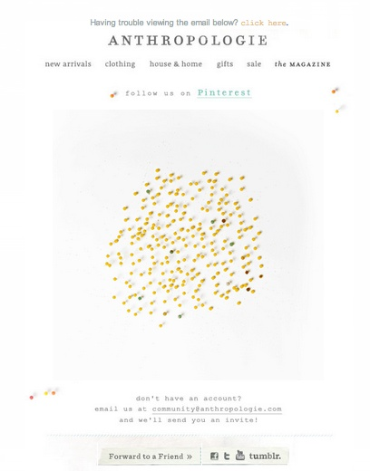 Anthropologie Pinterest Animated Gif Email — Fun!