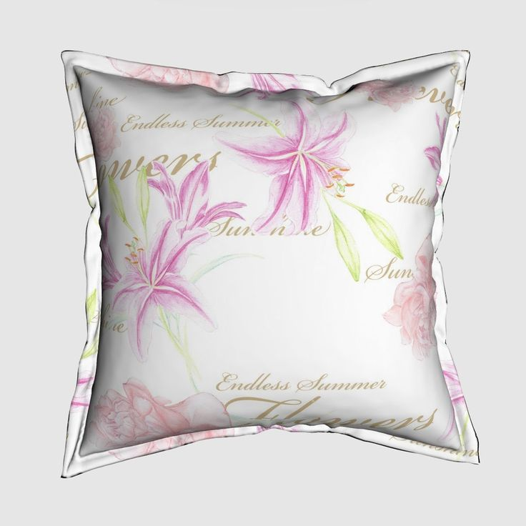 """The Serama throw pillow is a perfect spring room refresher. With a lovely  ½"""" flange detail around the outer edge and a subtle hidden zipper these  pillows bring a chic and sophisticated splash of color and personality to  your space.  Each pillow comes with an overstuffed poly/cotton blend insert and features  a ½"""" flange detail with white top stitching and a hidden zipper. Your  selected design will be featured on the front and back of pillow.Available  in 4 fabric options (details…"""