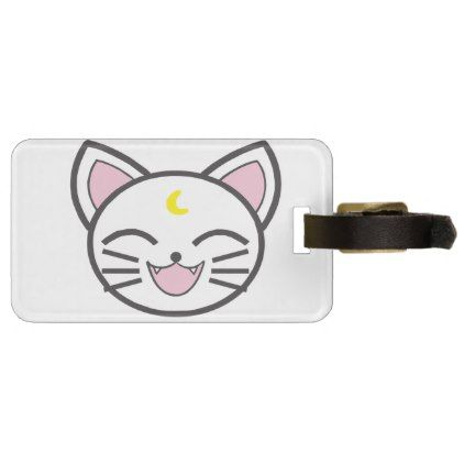 moon cat bag tag - accessories accessory gift idea stylish unique custom