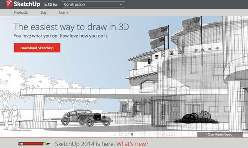 3D Drawing with SketchUp: SketchUp Make from Trimble is your answer. SketchUp is a software program that allows you to draw and design in 3D.