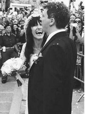 Elisa Toffoli durante il suo matrimonio (2015)