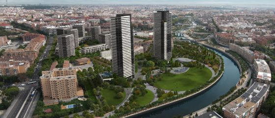 Two skyscrapers and a park to replace Atlético de Madrid stadium