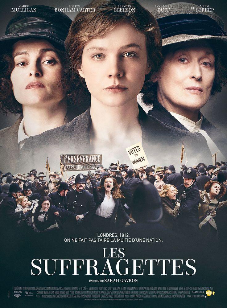 Les Suffragettes est un film de Sarah Gavron avec Carey Mulligan, Helena Bonham Carter. Synopsis : Au début du siècle dernier, en Angleterre, des femmes de toutes conditions décident de se battre pour obtenir le droit de vote. Face à leurs revendica
