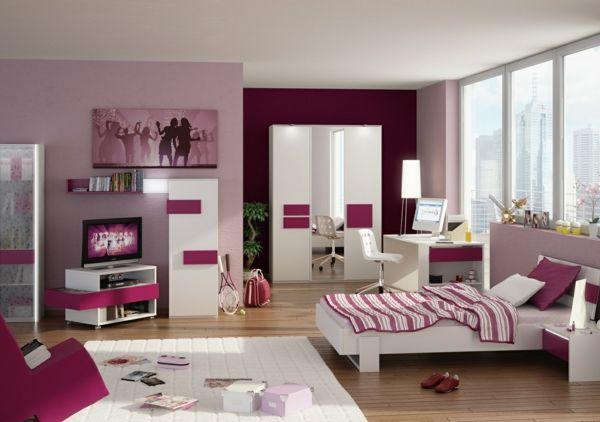 idée-chambre-ado-fille-être-créative-rouge-et-rose