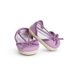 American Girl ® Dolls: Purple Espadrilles