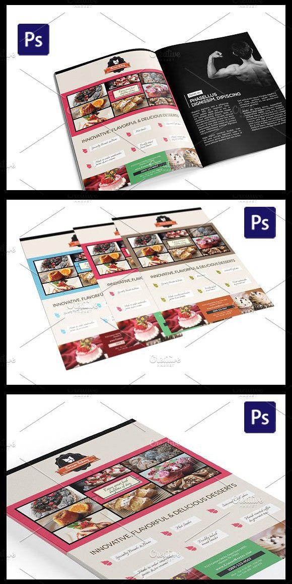 Cake Flyer / Magazine Ad Template Magazine Design Pinterest