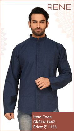 #Exclusive #EthnicWear #Design #Traditional #Trendy #Kurta #Men #Blue #Navy #Ootd #Outfit #Fashion #Style #ReneIndia #Brand available on #Flipkart #Snapdeal #paytm