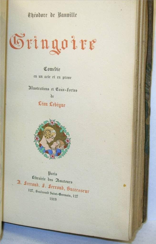 Gringoire Comedie en un acte et en prose