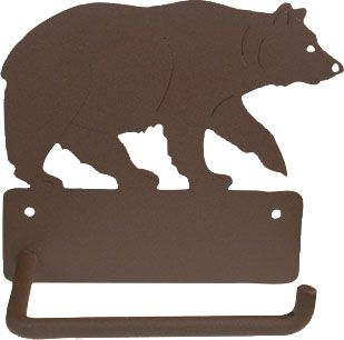 Amazing Bear Toilet Paper Holder Www.rusticeitions.com