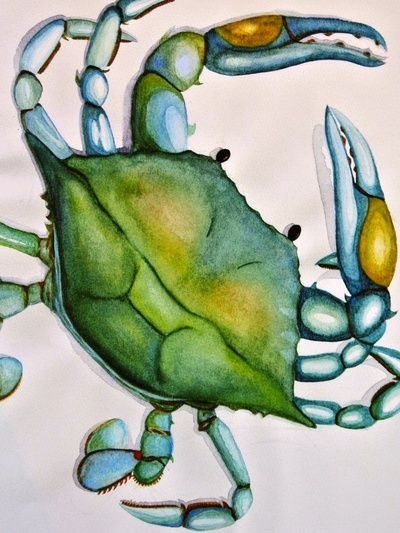 Blue Crab by Dylan Morang. I own this one. :)
