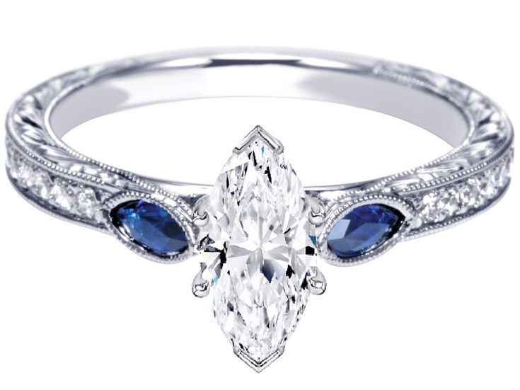28 best Three stone Sapphire Engagement Rings images on Pinterest