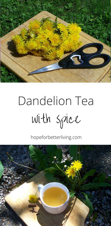 How To Make Spiced Dandelion Tea Dandelion Tea Dandelion Tea Recipe Dandelion