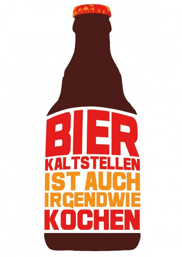 Bier kaltstellen ist auch irgendwie kochen | Edgar  | Echte Postkarten online versenden | Edgar