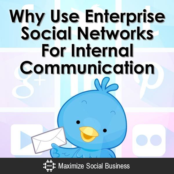 There's a good reason why you should use enterprise social networks for internal communication.