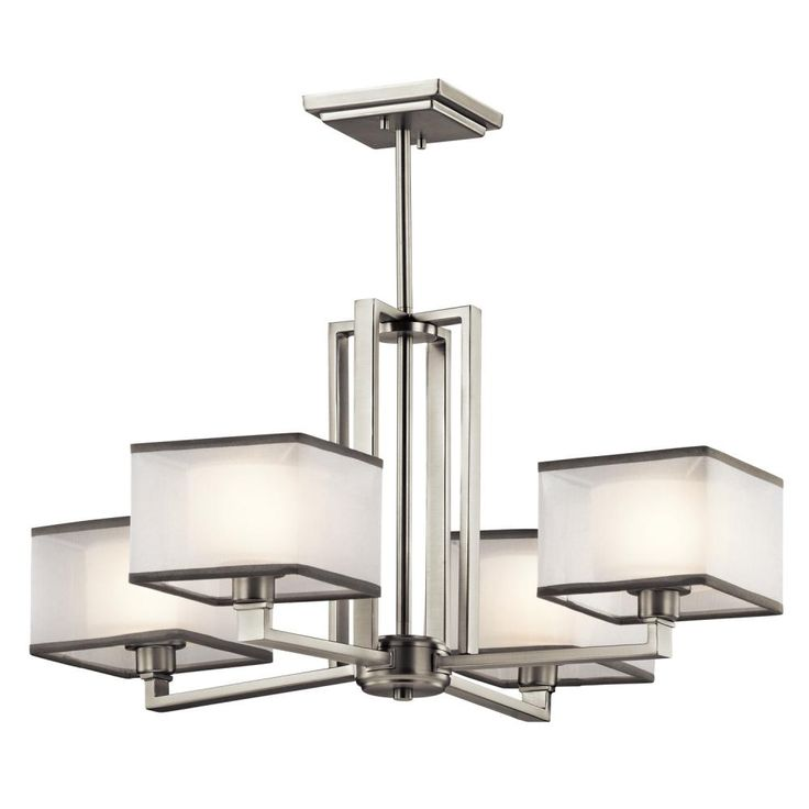 Kichler Lighting Kailey Brushed Nickel Chandelier At Destination