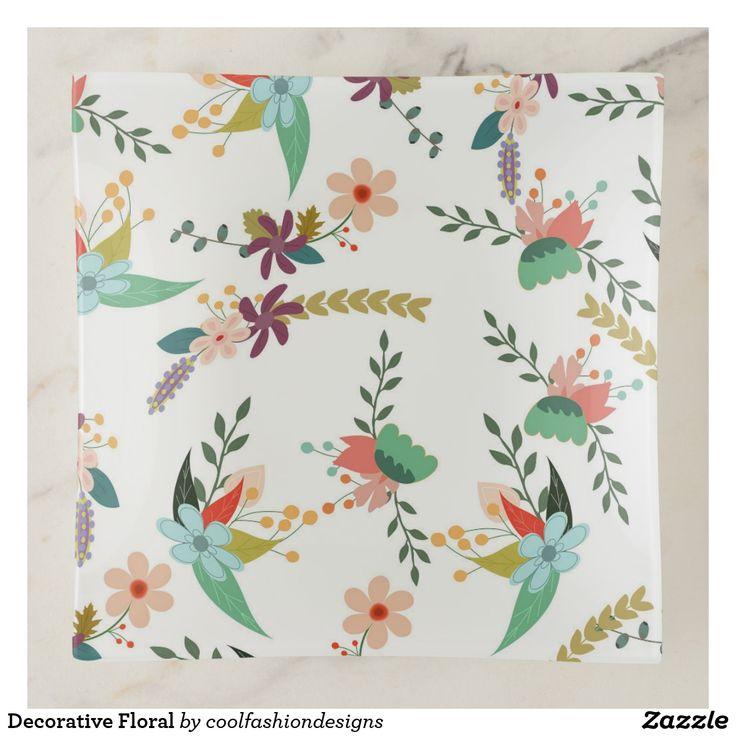 Decorative Floral Trinket Trays