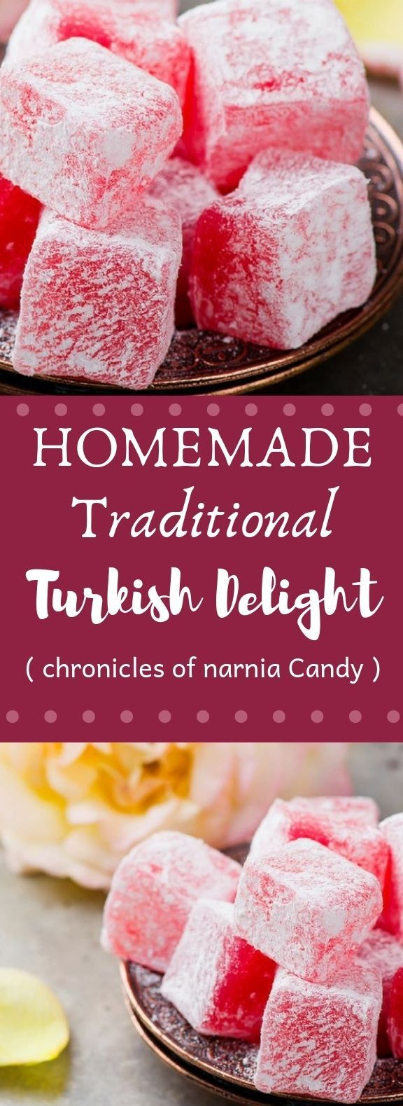 Homemade Traditional Turkish Delight Candy Desserts Homemade Turkish Delight Christmas Food Desserts Food