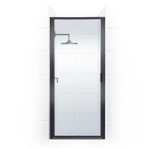 Coastal Shower Doors Legend Series 24 in. x 68 in. Framed Hinged Shower Door in Oil Rubbed Bronze with Clear Glass-L24.69ORB-C - The Home Depot
