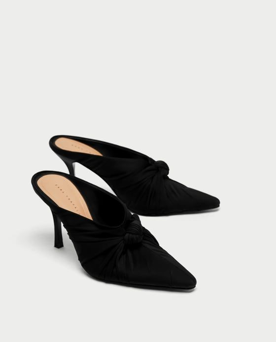 Image 4 of HIGH HEEL MULES WITH BOW from Zara