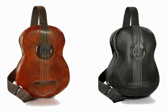 Mochila con forma de guitarra