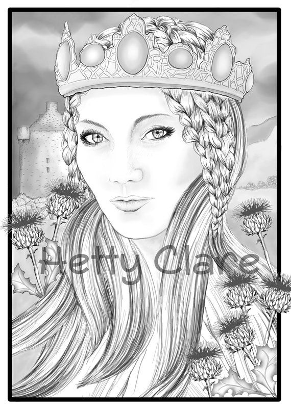 fantasy art printable coloring page