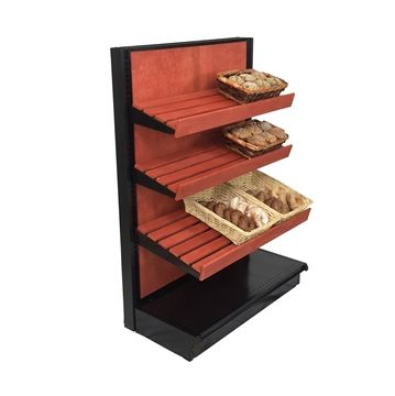 """bakery display bread shelves  36""""W END CAP SHELVING - Great for Bakery Displays!"""