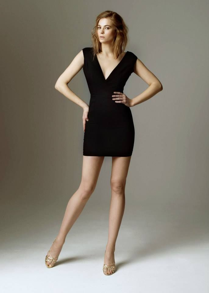 Little black dress from 2015 Evening Collection by Sylwia Kopczynska