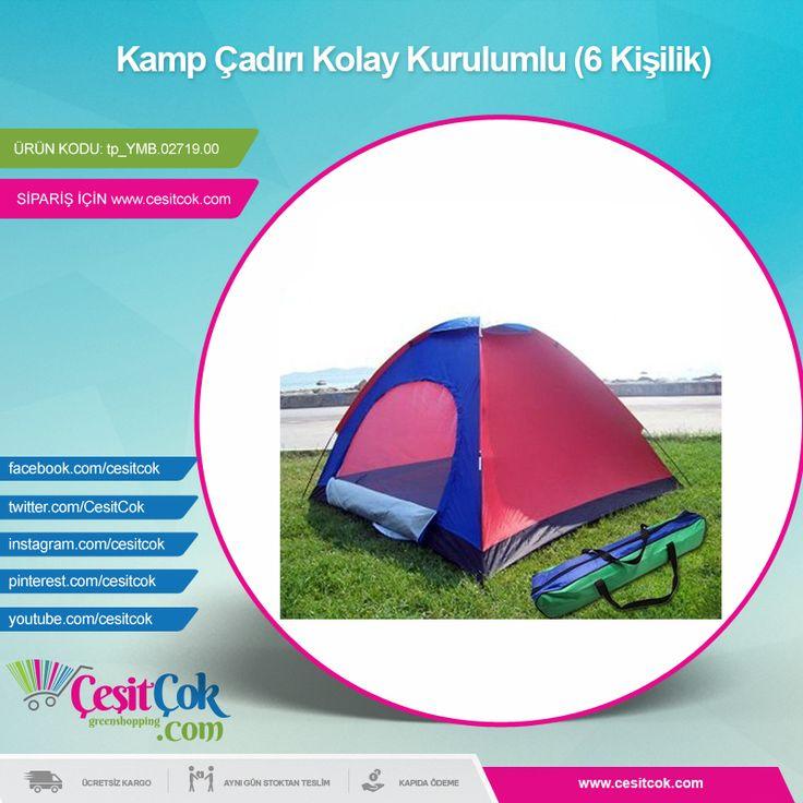 #Kamp Çadırı Kolay Kurulumlu (6 Kişilik) >> http://goo.gl/4Y1OFp