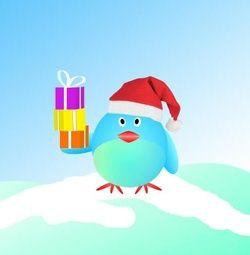 Vrolijke kerstkaart met vogel. Grappige Cartoon-kerstkaarten. Kies een mooie kerstkaart, schrijf de tekst, en met een druk op de knop, verstuur je ze allemaal! http://www.kerstkaartensturen.nl/kerstkaarten/kerst-cartoons/