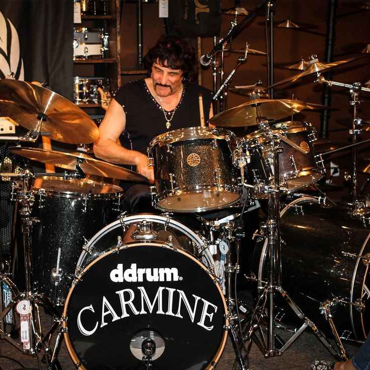 You can buy Carmine Appice's Signature drum set that he played during Drum Wars the Clinic #drum #drummers #legend #drumset #autographed