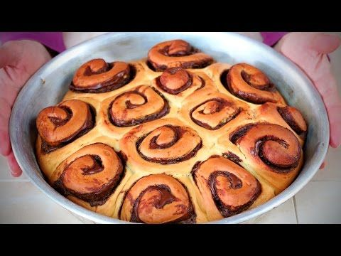 GIRELLE di PAN BRIOCHE alla NUTELLA - Nutella Brioche Rolls Recipe - YouTube