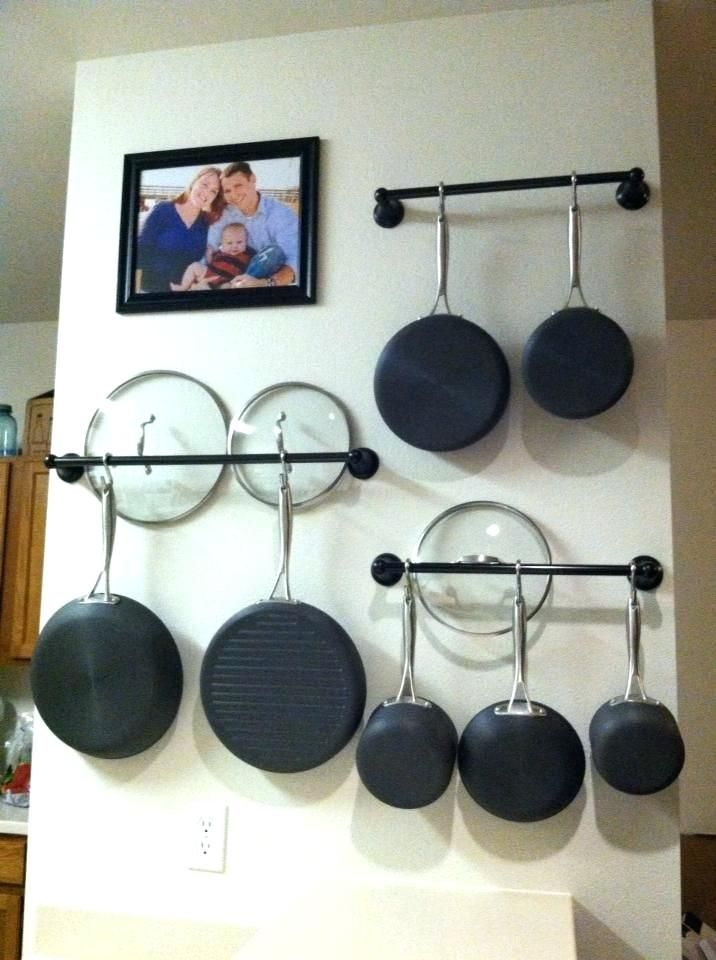 Hanging Pots On Wall So Simple And Lids Together How To Choose Pans Rack Ikea