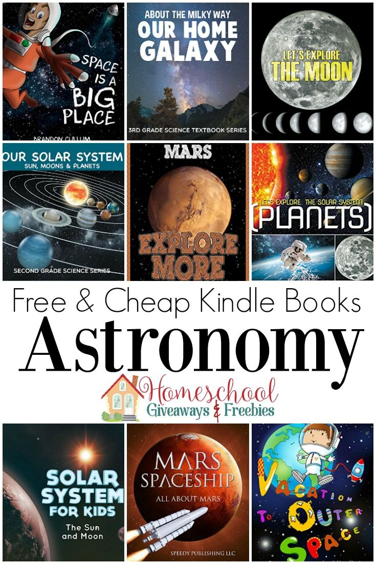 Explore the solar system with these free and cheap Kindle books for kids!