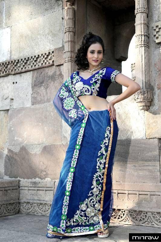 Gorgeous net lehenga style saree