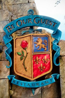 Be Our Guest Restaurant, Fantasyland, Magic Kingdom, Disney World. I'm sure this fills up fast but I am going to get in the next time I go no matter what!