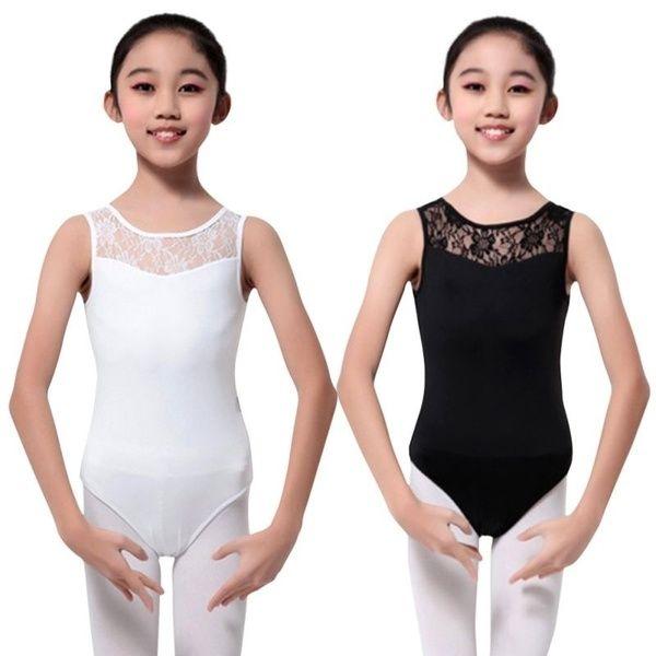 Girl Ballet Gymnastics Lace Dance Leotards Sleeveless Bodysuit Dancewear Costume
