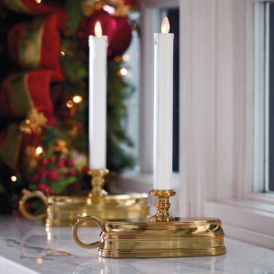Dream Window Candles give a real flickering glow, and can be set on built-in timer or on/off mode.  Great solution to ugly cords and need for timers.