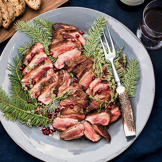 Crunchy Almond-Crusted Duck Breasts with Chanterelle Salad Duck on Food & Wine