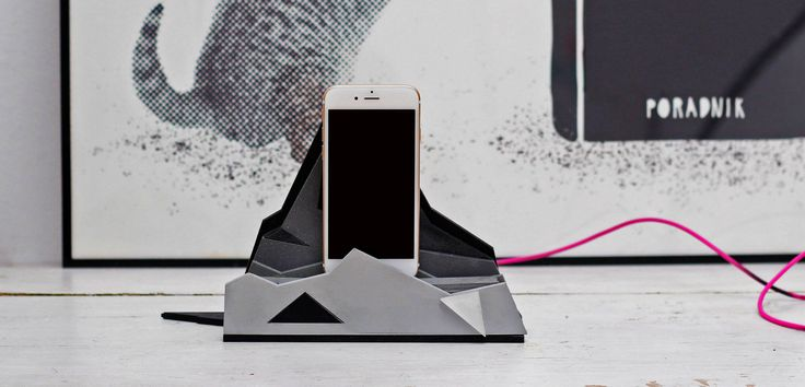 Lovely designed docking station made of wood and plexiglass. www.lightlab.pl