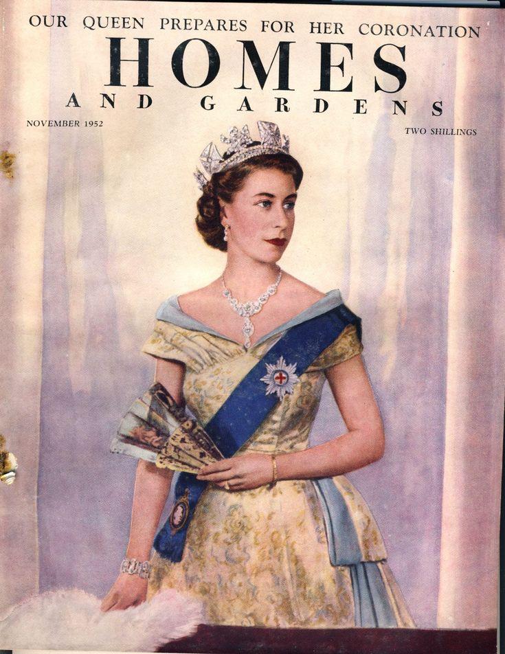 HOMES & GARDENS November 1952 vintage magazine Coronation