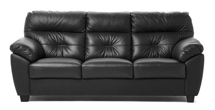 Soffa med hög rygg som ger stöd åt axlar och nacke. Välj mellan olika tyger, läder och färger.
