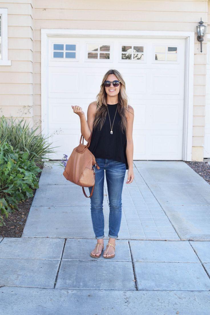 Madewell jeans, Hobo bag, Natalie Borton necklace