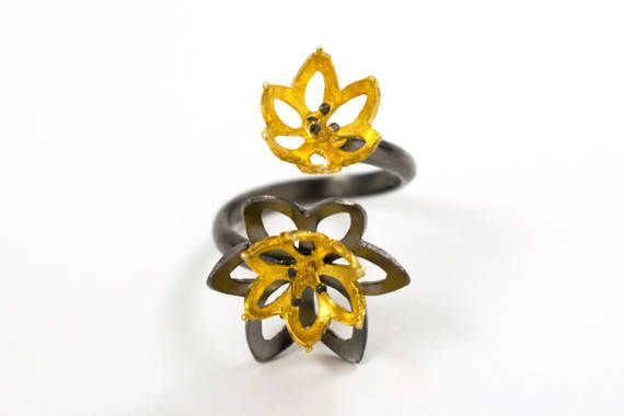 Flower ring blossom ring lotus ring water lily ring