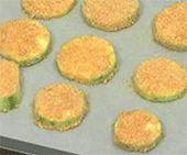 Vegan breaded baked zucchini chips
