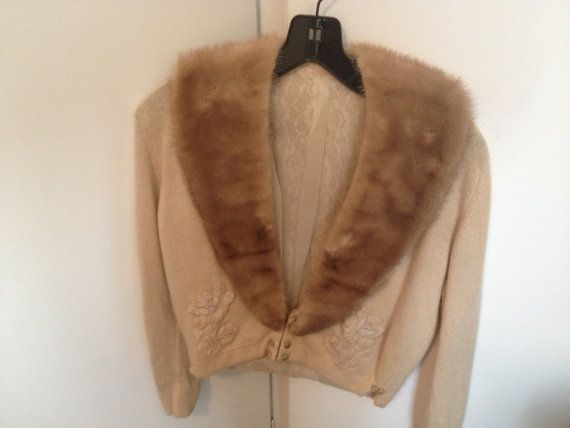 Gorgeous sweater with removable fur collar and by AtticCouture, $40.00