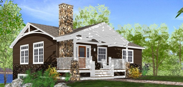 Cottage style lake homes lake cottage plans lakehouse for Lake cottage house plans