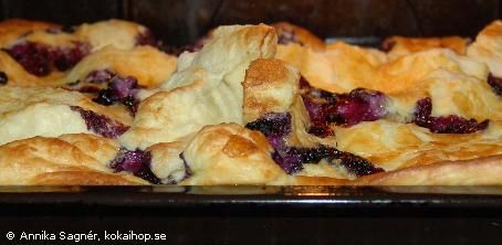 Recept - Ugnspannkaka med blåbär